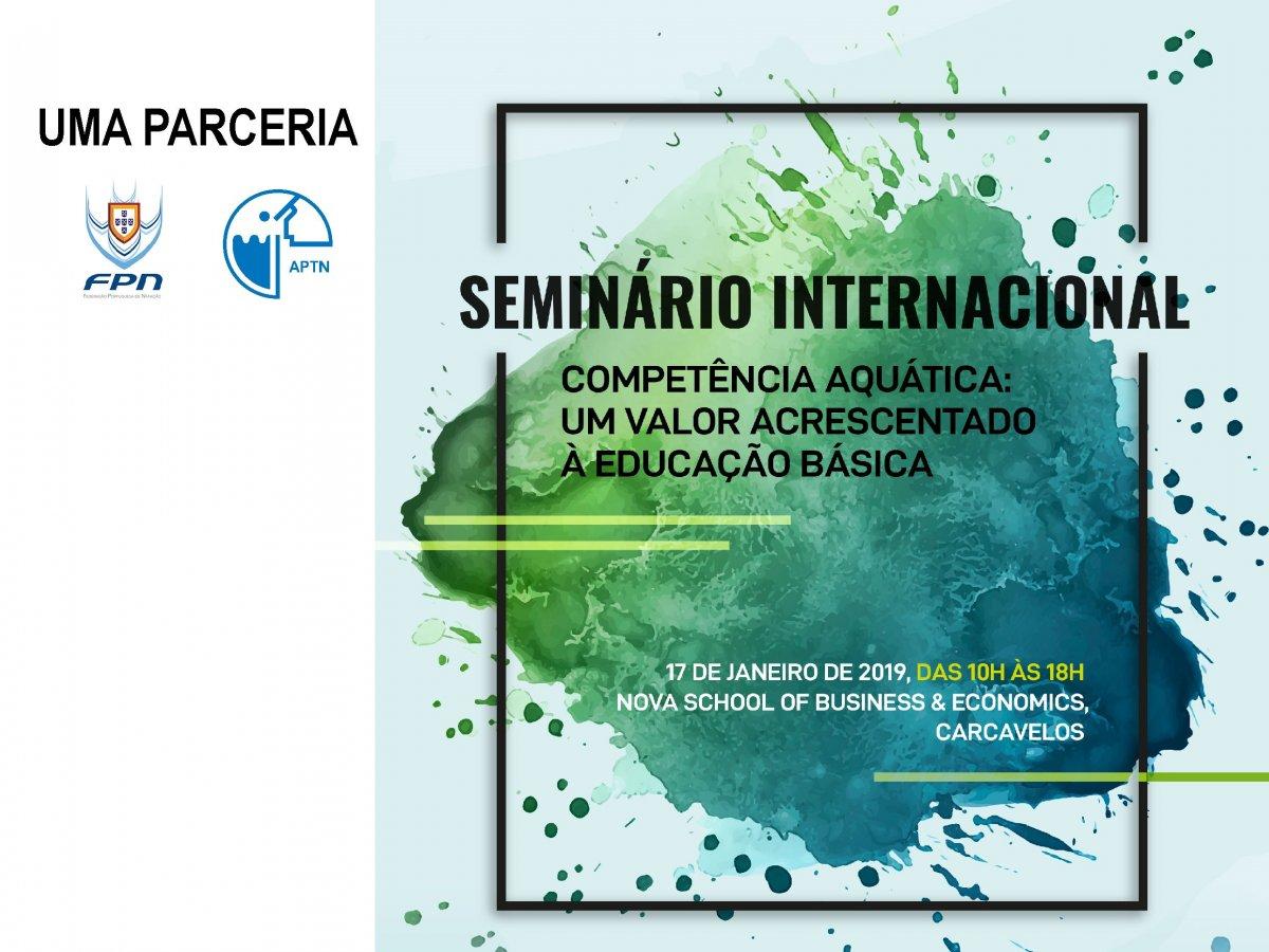 APTN Associação Portuguesa de Técnicos de Natação FPN seminário competências aquáticas